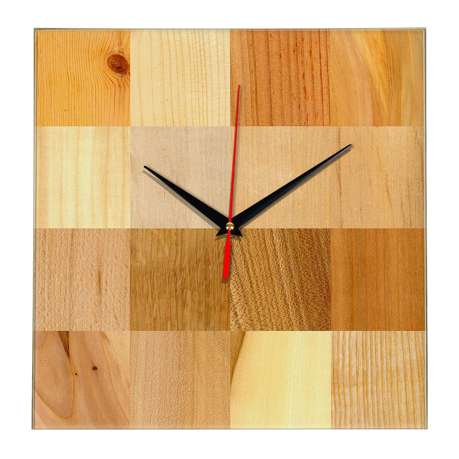 Дизайнерские настенные деревянные часы «WoodGlass» 17