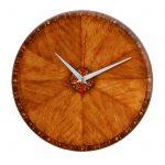 """Дизайнерские настенные деревянные часы """"WoodGlass"""" 18"""