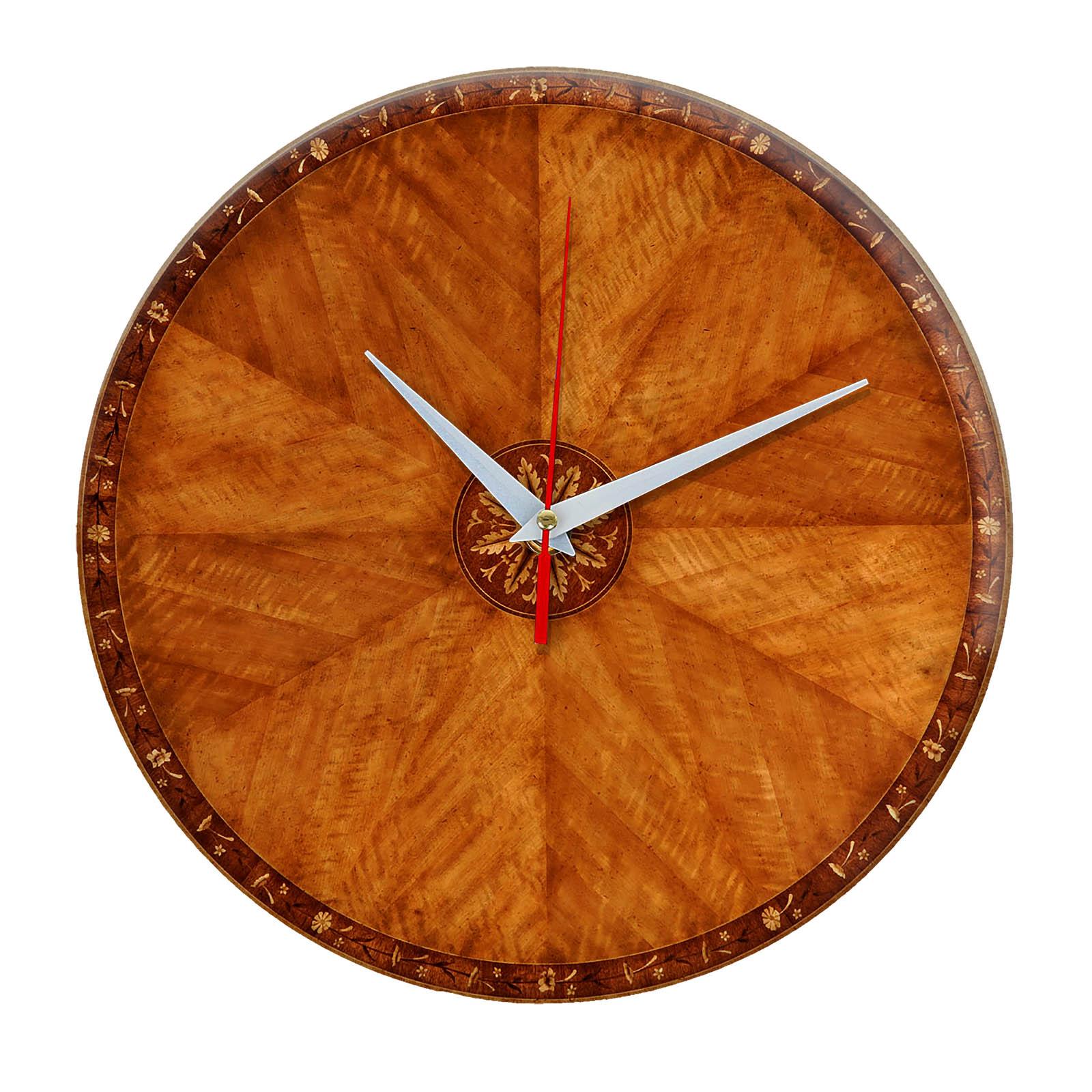Дизайнерские настенные деревянные часы «WoodGlass» 18