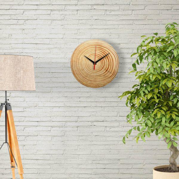 """Дизайнерские настенные деревянные часы """"WoodGlass"""" 19"""