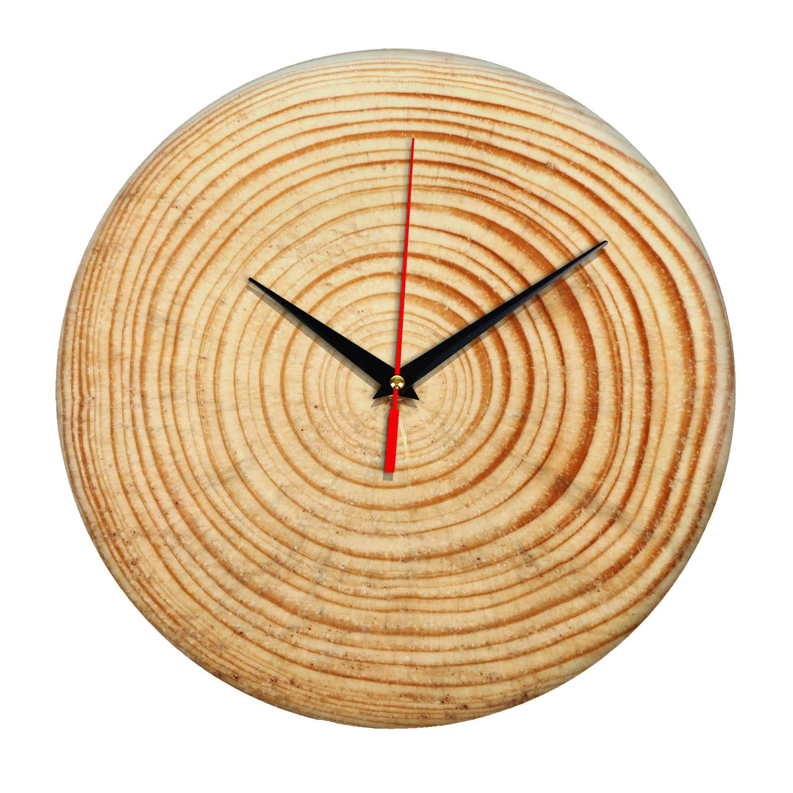Дизайнерские настенные деревянные часы «WoodGlass» 19