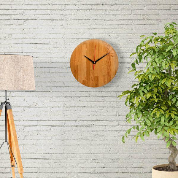 """Дизайнерские настенные деревянные часы """"WoodGlass"""" 20"""