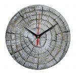 """Дизайнерские настенные деревянные часы """"WoodGlass"""" 21"""
