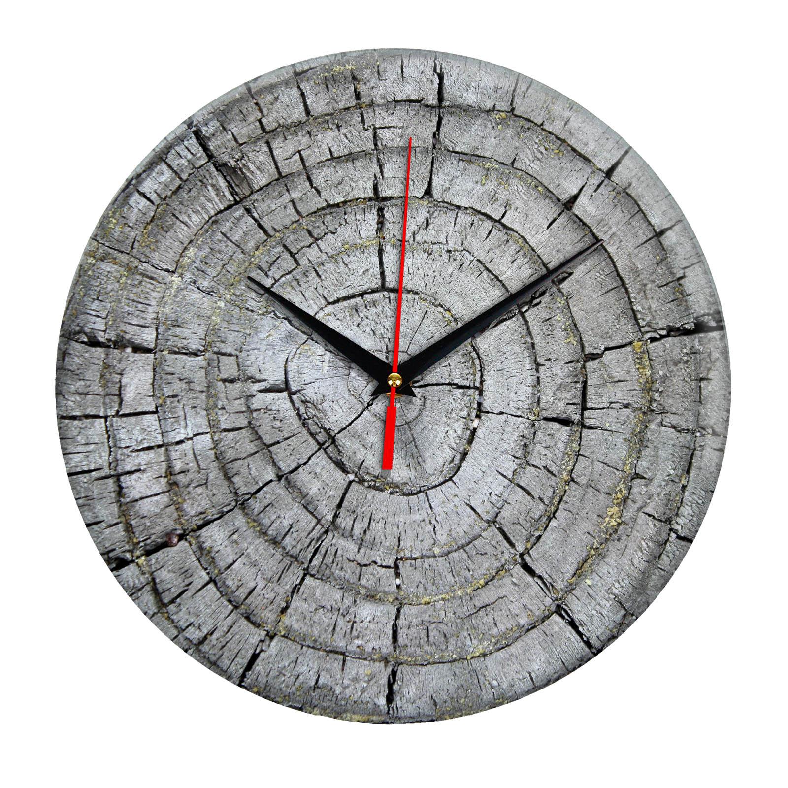 Дизайнерские настенные деревянные часы «WoodGlass» 21