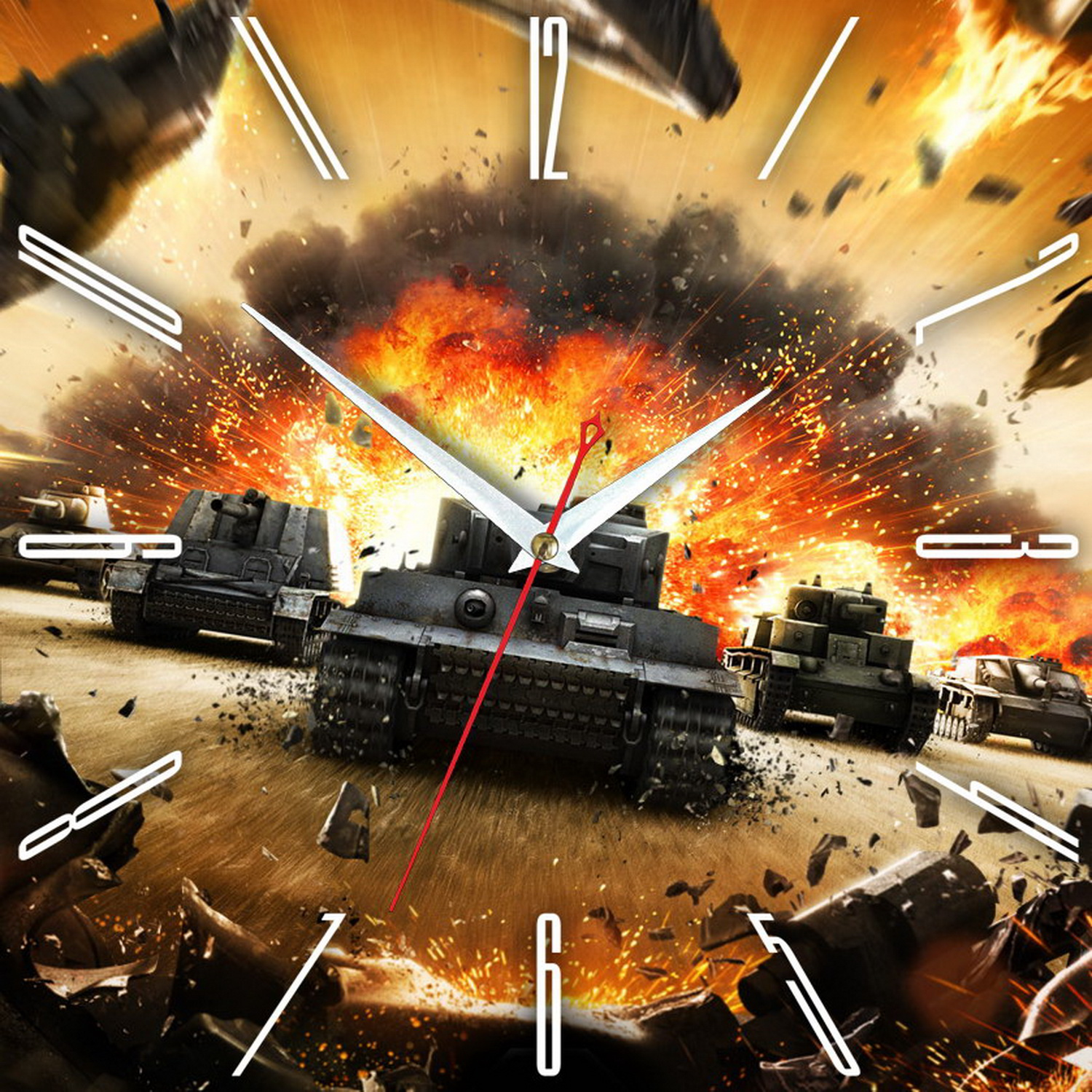 Часы настенные World of Tanks- танки в бой