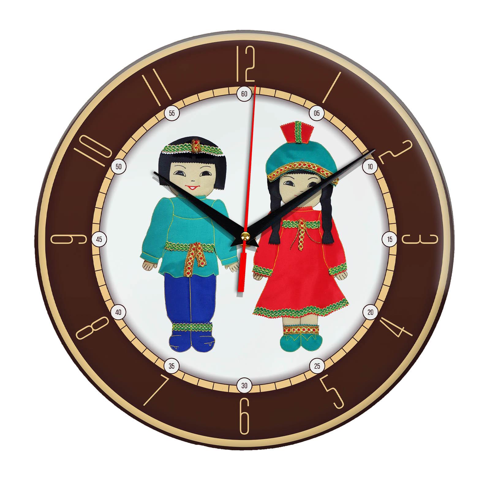 Часы настенные «Национальный костюм Якутии»