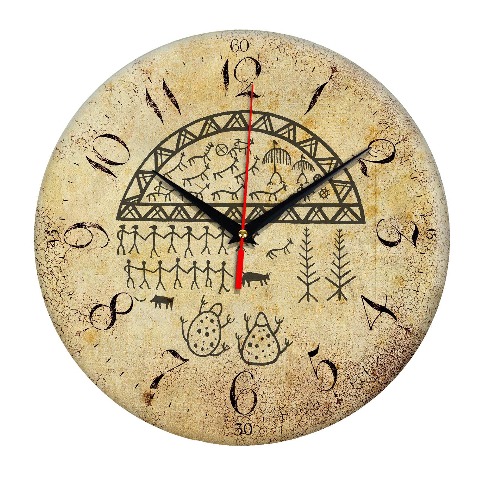 Часы настенные «Якутский Шаманский бубен»