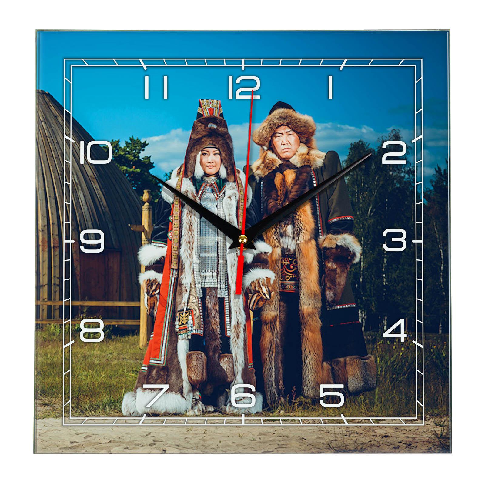 Часы настенные «Национальная одежда в Якутии»