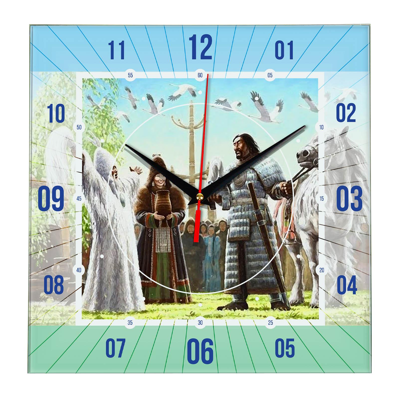 Часы настенные «Якутские Былины»