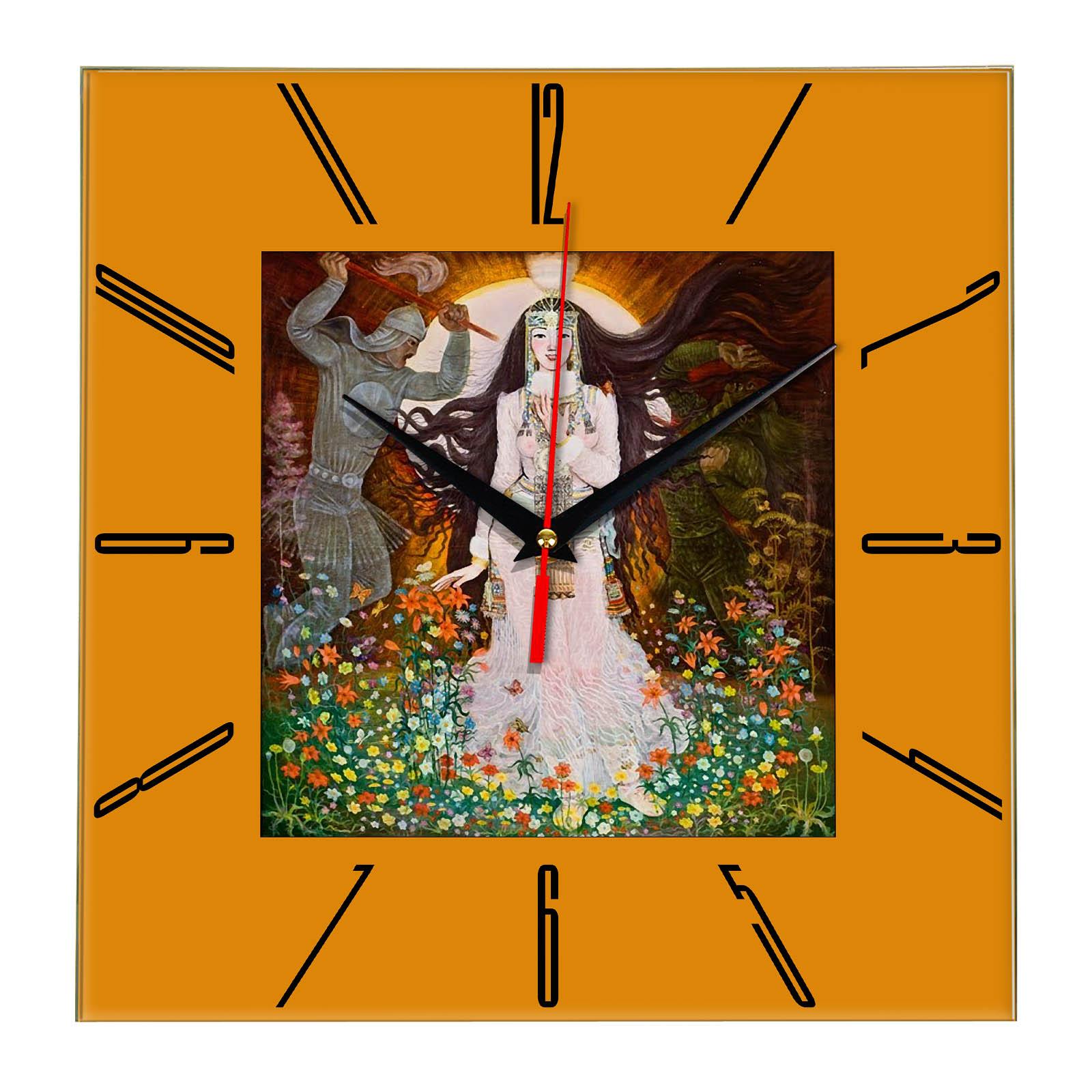 Часы настенные «Якутия и ее былины»