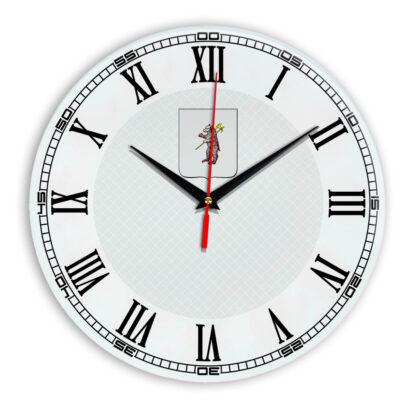 Стеклянные настенные часы с логотипом Ярославль 09