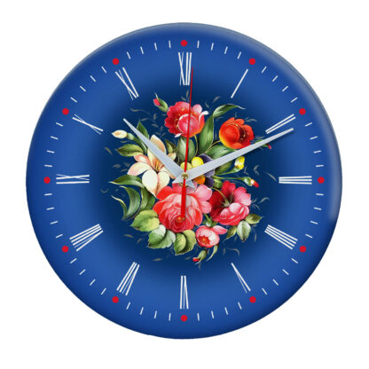 Народные промыслы часы Жостовская роспись 1