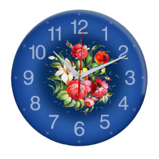 Народные промыслы часы Жостовская роспись 2