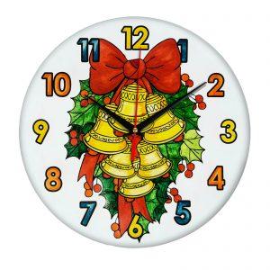 Часы детская раскраска » Колокольчики»