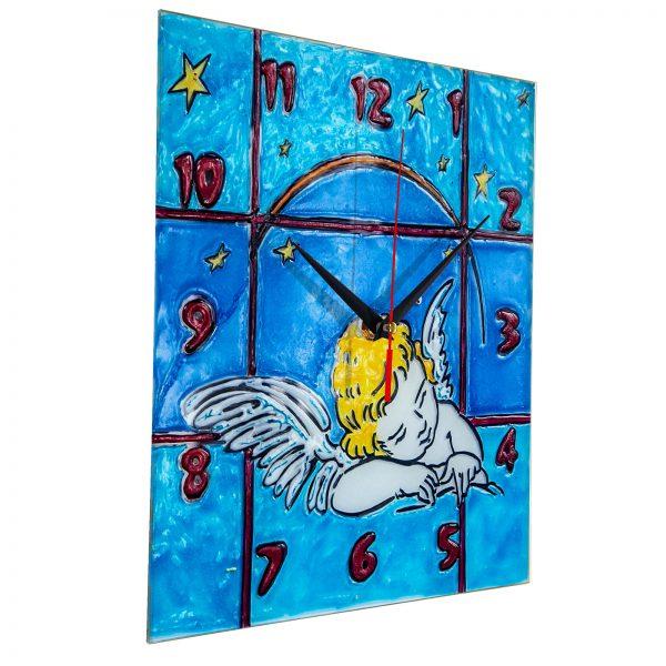 Часы раскраска на стекле для детей «Спящий ангел»