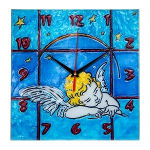 """Часы раскраска на стекле для детей """"Спящий ангел"""""""