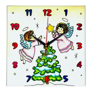 Часы раскраска для детей «Рождество»