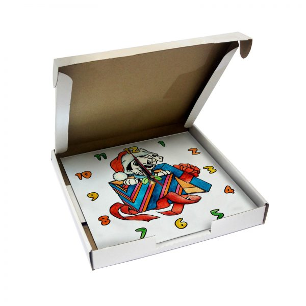 Часы раскраска для детей «Лучший новогодний подарок»