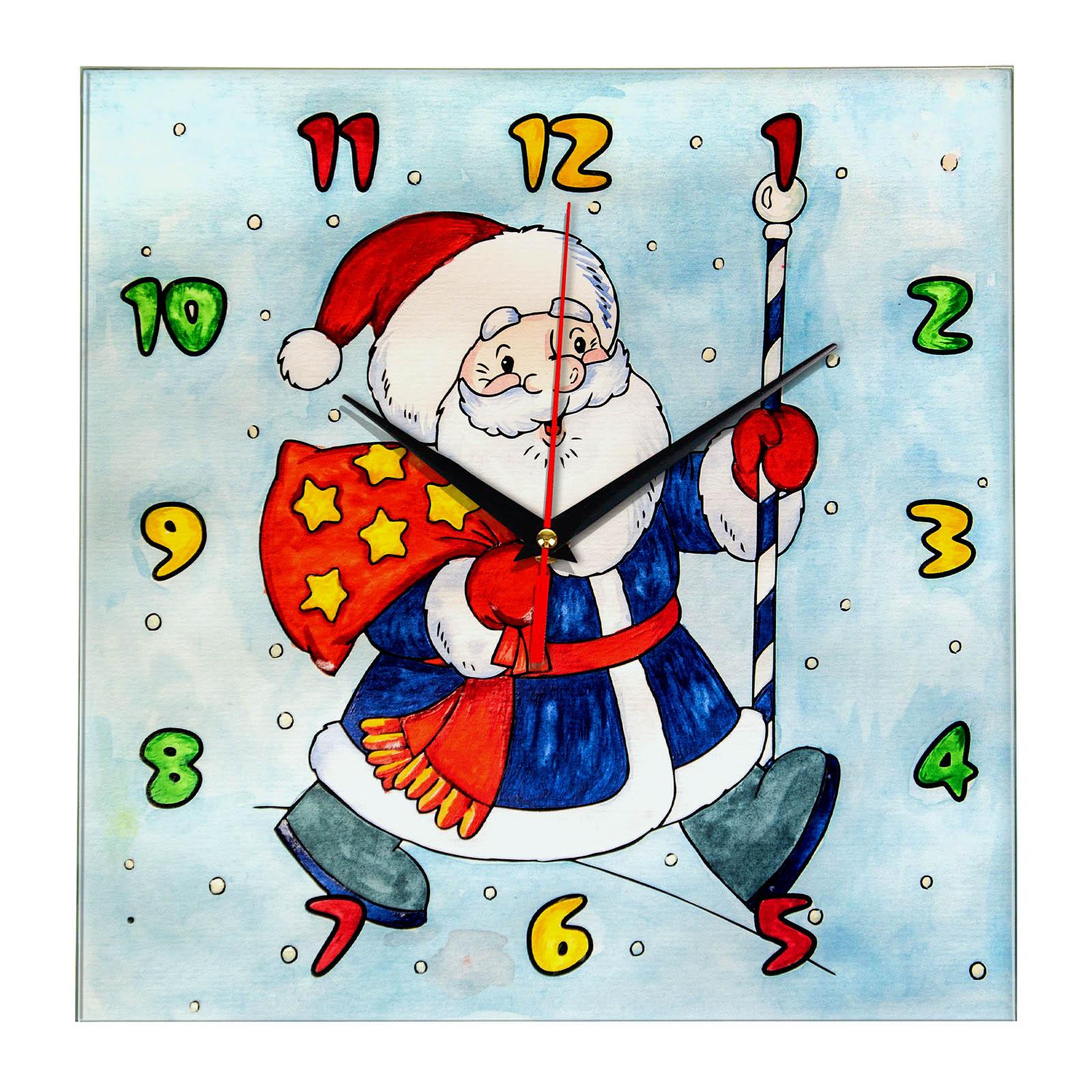 """купить Часы раскраска для детей """"Дед мороз несет подарки ..."""