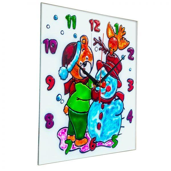 Часы раскраска на стекле для детей «Лучшие друзья»