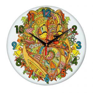"""Часы раскраска для детей """"Новогоднее настроение"""""""