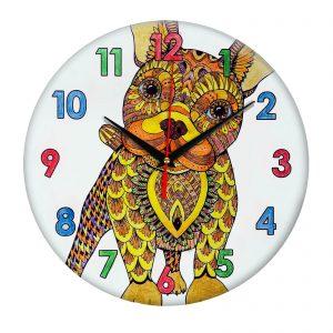 Часы раскраска для детей «Собака лучший друг»